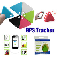 Wholesale wireless finder resale online - Mini GPS Tracker Smart Wireless Bluetooth Anti lost alarm Trackers iTag Key Finder triangle Locator Remote Control Shutter retail package
