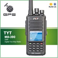 Wholesale ip functions - New Arrival GPS Function Waterproof IP-67 5W UHF 400-480MHZ Digital Commercial Radio Transceiver TYT MD-390 Free Earphone Cable
