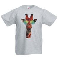 cooles mädchen scherzt t-shirt großhandel-Giraffe Sonnenbrille Hipster Kinder T-Shirt Kinder Jungen Mädchen Unisex Top Cooles xxxtentacion Marcus und Martinus T-Shirt discout heißes neues Top
