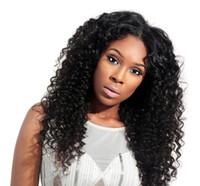 mejores pelucas vírgenes al por mayor-2018 superventas suave aaaaaaa 100% remy remy virginal del pelo humano color natural largo rizado rizado peluca llena del cordón para las mujeres