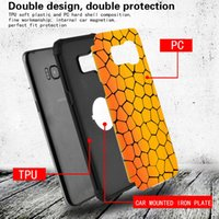 Wholesale plastic wood phone case for sale - Group buy for samsung s7edge s8 plus note8 phone case wood Back Cover Shell in Hard PC Back Soft TPU Grind arenaceous Built in Magent