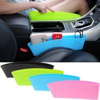 Wholesale auto car seat organizer for sale - Group buy Auto Car Seat Console Organizer Side Gap Filler Pocket Organizer Storage Box Bins Bag Pocket Holder Colors WX9