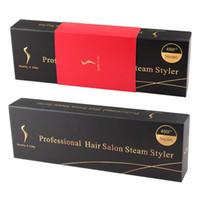 Wholesale Professional F Ceramic Vapor Steam Hair Straightener With Argan Oil Infusion Steam Flat Iron Ceramic Vapor Fast Heating Iron