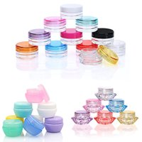 Wholesale Plastic Bottle Beads - 5ML 5G Plastic Cosmetic Container Jar Mini Empty Pot For Eyeshadow Lip Balm Nails, Powder, Beads, Jewelry Cream Wax Bottle