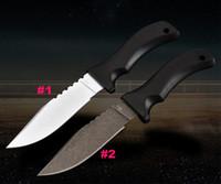 usa abs großhandel-Klassische USA Mad Dog Survival Gerade Messer DC53 Drop Point Klinge Schwarz G10 Griff Feststehende Messer Mit ABS K Mantel