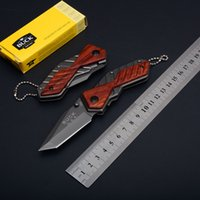 Wholesale Pocket Knives Buck - Buck X59 Little Knife EDC Folding Pocket Keychain Knife 5CR13MOV 56HRC Tanto Point Small Folder Knives D749Q