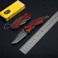 Wholesale Buck Pocket - Buck X59 Little Knife EDC Folding Pocket Keychain Knife 5CR13MOV 56HRC Tanto Point Small Folder Knives D749Q
