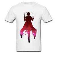 Wholesale summer man cool t shirt for sale - Group buy The Undefeated T Shirt Men Summer White T Shirt Cool Double Shooter Anime Printed Clothing