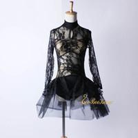 filles sexy de ballet achat en gros de-Adulte De Mode Ballet Vêtements Pour Femmes Filles Festival Robe De Fête Sexy Ballet Jupe Black Lace Stage Spectacle spectacle Costume