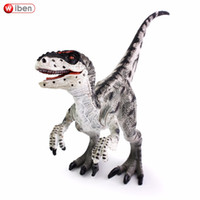 ingrosso ragazzo di apprendimento-Wiben Jurassic Velociraptor Dinosaur Action Toy Figure collezione di modelli animali Learning Educational Kids Birthday Boy Gift
