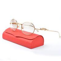 Wholesale Men Sunglasses Leopard - Gold retro round Diamond Sunglasses Brands for Women Men Luxury Three-dimensional Leopard Brand Designer sunglasses With Box CT6384082