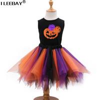 Wholesale kids file - 1-4 Children Cosplay Dress Girl Princess Dress Halloween&Christmas Party Costume Children Colorful Vestido Kids Girls Robe File