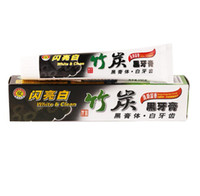 Wholesale caring for teeth - 100g Pro Bamboo Charcoal Toothpaste Teeth Whitening Remove Dental Stains Black Toothpaste For Oral care health
