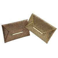Wholesale gold prom handbags - Women Ladies Bridal Party Evening Prom Envelope Sequins Clutch Bag Handbag