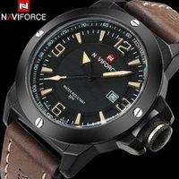 ingrosso marchio della porcellana mobile-NAVIFORCE Cina Top Brand Mobile Fashion Casual Business orologio da uomo 30 M impermeabile cinturino in pelle orologio militare orologio da uomo Relogio Masculi