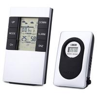 Wholesale Wireless Weather - 433MHz Outdoor Digital Thermometer Hygrometer Wireless Weather Station Alarm Clock Indoor Temperature Humidity Tester