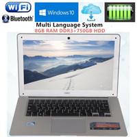 "Wholesale 8gb Ddr3 Ram Laptop - 8GB RAM DDR3 & 750GB HDD 14.1""1920x1080P Intel Celeron J1900 Quad Core Laptops Computer Notebook Bluetooth Wifi HDMI Windows 10"