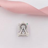 925 silbernes rad großhandel-Authentische 925 Sterling Silber Perlen Riesenrad Charm Charms passt europäischen Pandora Style Schmuck Armbänder Halskette 797199NLCMX