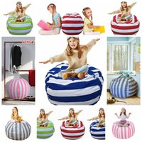 Wholesale large beans - 38 Inch Extra Large Stuffed Animal Storage Bean Bag Chair Portable Kids Clothes Toy Storage Bags 5 Colors OOA4639