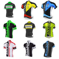 кружевные майки оптовых-Команда высокого качества GIANT ropa ciclismo hombre Tour de France Велоспорт Одежда с коротким рукавом Велоспорт Джерси Велоспорт Джерси C1914