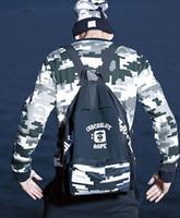 японские бренды сумки оптовых-Обезьяна Прилив Человек Рюкзак Япония Бренд Дизайнер Рюкзак С Буквами Спорт Открытый Пакеты Для Мужчин Женщин Емкость Компьютер Сумка
