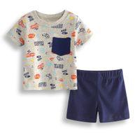 Wholesale fluorescent sports clothing resale online - Summer Fashion Baby Clothes Sets Cotton Newborn T Shirts Hot Shorts Pant Infant Clothing Pieces Suit Month Outfits Sport Suit