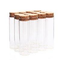 artesanato garrafas rolhas venda por atacado-24 pcs 50 ml tamanho 30 * 100mm Tubo de Ensaio com rolhas de cortiça Spice Garrafas Container Jars Vials DIY Craft