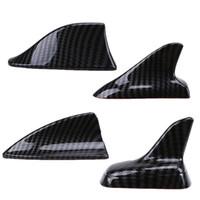 Wholesale decorative car parts resale online - Auto Car Universal Shark Fin Roof Decorative Decorate Antenna Aerials Imitation Carbon Fiber Car Stickers Exterior Parts
