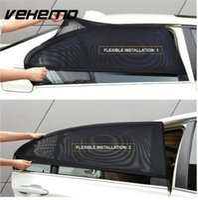vizör uv koruması toptan satış-2 Adet Araba Pencere Kapak Güneşlik Perde UV Koruma Kalkanı Güneş Gölge Güneşlik Güneş Güneş Sivrisinek Toz Koruma Araba-Yeni kapakları