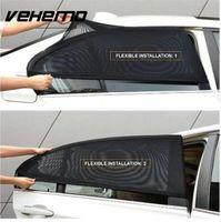 Discount sunshade window sun visor - 2Pcs Car Window Cover Sunshade Curtain UV Protection Shield Sun Shade Visor Mesh Solar Mosquito Dust Protection Car-covers New