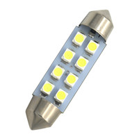 Wholesale Led Color Interior Lights - 10x High Quality 31mm 36mm 39mm 42mm Super 1210 LED FESTOON Bulb 8 Chips C5W White Color Car Dome Light Auto Interior Lamp DC12V