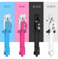 iphone штатив оптовых-Складная ручка селфи Bluetooth селфи палка + штатив + Bluetooth штатив для дистанционного затвора для iPhone Android селфи палочки