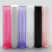 pequeños lápices labiales de muestra al por mayor-50PCS 5ML Sample Plastic Transparent tubo de lápiz labial prueba pequeño paquete dispensador de tubo de conveniencia al por mayor