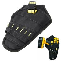 Wholesale tools for electricians - 1pc Heavy Duty Cordless Holder Impact Drill Tool Belt Pouch Pocket 165x265mm For Electricians Carpenters