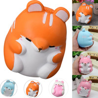 Wholesale cute hamsters for sale - 11CM Squishy Cute Soft Squishy Squishi Colorful Simulation Hamster Toy Slow Rising for Relieves Stress Anxiety Home Decoration Fun Toy