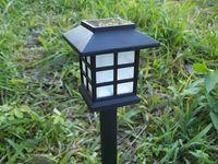 çince tarzı aydınlatma toptan satış-2018 Yeni Moda Antika Güneş Çim Işık RGB renk Işık Beyaz Işık Çin Tarzı Bahçe Dekorasyon DHL Ücretsiz Kargo