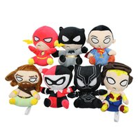 "Wholesale wonder woman figure - Hot Sale 7 Style 4.5"" 12cm The Avengers Superman Black Panther Wonder Woman Plush Doll Stuffed Toy For Gifts Wholesale"