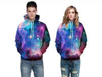 frauen galaxie hoodie großhandel-2018 heißer Verkauf 3D Hoodies Mens Womens Casual Sweatshirts Space Galaxy Wolf Löwe Drucken Hoodie Universum Sternenhimmel Grafik Unisex Pullover