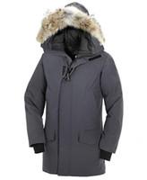 canada goose parka achat en gros de-2019 Canada Man Goose Man Langford Parka Nouvelle Arrivée Vente Hommes Guse Chateau Noir Marine Gris Doudoune Manteau D'hiver / Parka Vente
