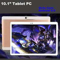 tabletten pc doppelsim großhandel-10 Zoll MTK6582 3G WCDMA Octa-Kern Android 6.0 IPS kapazitiver Touch Screen Doppel-Sim-Tablettentelefon-PC Phablet WIFI GPS 10