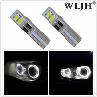 Wholesale WLJH Canbus T5 LED Headlights Headlamp Light Angel Eyes for Ford Focus II for VW Golf IV for BMW Serie