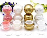 Wholesale lipstick sample mini resale online - 100pcs g cream jar For Lip balm Lipstick Empty Spherical Round lip gloss jar Mini sample container