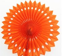 Wholesale pinwheel flower for sale - Group buy 20cm Honeycomb Paper Flower Fan Birthday Party Ornamental Furnishings Circular Diy Hollow Papers Fans Pinwheels Flowers Crafts ym gg