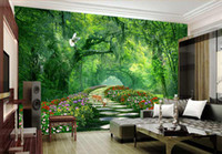 Wholesale Television Background Wallpaper - 3D woods nature scenery rural TV background wallpaper and living room sofa wallpaper wall of wall of seamless television