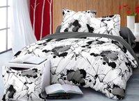 pinturas textiles al por mayor-Juego de cama cubierta de Buvet Pintura de tinta de salpicaduras Acuarela textiles para el hogar Dormitorio ropa de cama decoración de la boda sin sábana