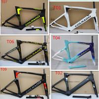 porte-cage à eau noire jaune achat en gros de-8 couleurs disponibles Colnago concept carbone cadre de route full fiber de carbone 3 k brillant / mat finition vélo cadre de vélo fit 700c vélo cadres