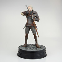 Wholesale movie for sale - 25cm The Witcher Wild Hunt Geralt Of Rivia Movie Anime Figure PVC Collection Model Toy Action figure for friends gift
