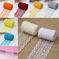 Wholesale crafting ribbons - 4.5cm Lace Ribbon Wedding Party Decorations DIY Craft Clothing Accessories Multi Color New Arrive 2 5tn C R