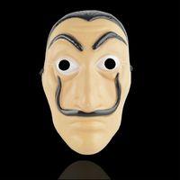 Wholesale April House - Halloween Horror Prop La Casa De Papel Card House Mask Salvador Dali Bella Bridge Prom Mask