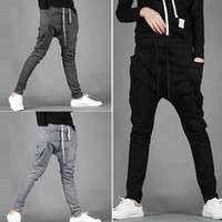 Wholesale Boys Hip Hop Trousers - 2018 Sporting Harem Pants Men Trousers Autumn Vouge Men's Fashion Pants Male Hip Hop Casual Boy Trousers Sweatpants Plus Size